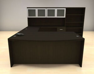 6pc U Shape Modern Executive Office Desk Set ch amb u79