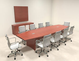 Modern Contemporary Boat Shape 12 Feet Conference Table ro abd c11