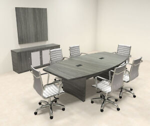 Modern Contemporary Boat Shape 8 Feet Conference Table ro abd c17
