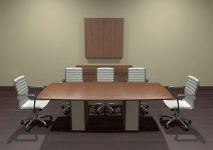 Modern Cotemporary Boat Shape 8 Feet Conference Table ch ver c1