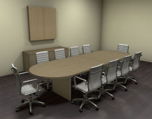 Modern Racetrack 12 Feet Conference Table ch amb c22