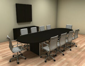 Modern Racetrack 12 Feet Conference Table ch amb c24