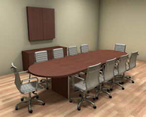 Modern Racetrack 12 Feet Conference Table ch amb c25