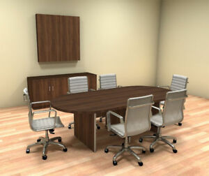 Modern Racetrack 8 Feet Conference Table ch amb c31