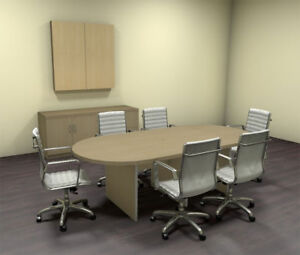 Modern Racetrack 8 Feet Conference Table ch amb c32