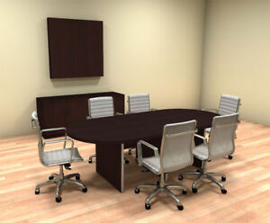Modern Racetrack 8 Feet Conference Table ch amb c33