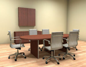 Modern Racetrack 8 Feet Conference Table ch amb c35
