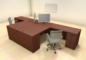 Two Persons Modern Executive Office Workstation Desk Set ch amb f16