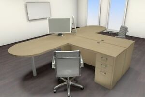 Two Persons Modern Executive Office Workstation Desk Set ch amb s20