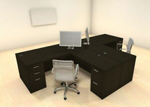 Two Persons Modern Executive Office Workstation Desk Set ch amb s3