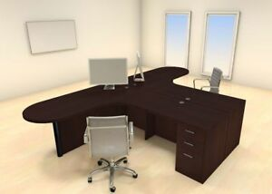 Two Persons Modern Executive Office Workstation Desk Set ch amb s32