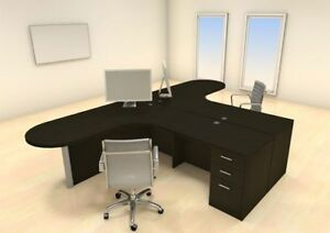 Two Persons Modern Executive Office Workstation Desk Set ch amb s33