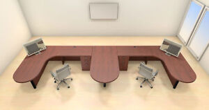 Two Persons Modern Executive Office Workstation Desk Set ch amb s46