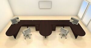 Two Persons Modern Executive Office Workstation Desk Set ch amb s47