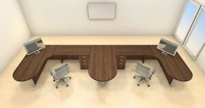 Two Persons Modern Executive Office Workstation Desk Set ch amb s49