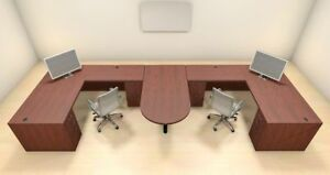 Two Persons Modern Executive Office Workstation Desk Set ch amb s51