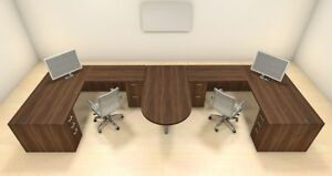 Two Persons Modern Executive Office Workstation Desk Set ch amb s54