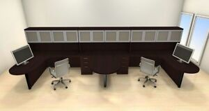 Two Persons Modern Executive Office Workstation Desk Set ch amb s57