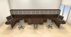 Two Persons Modern Executive Office Workstation Desk Set ch amb s59