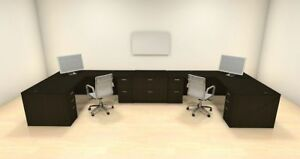 Two Persons Modern Executive Office Workstation Desk Set ch amb s68