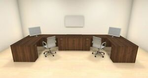 Two Persons Modern Executive Office Workstation Desk Set ch amb s69