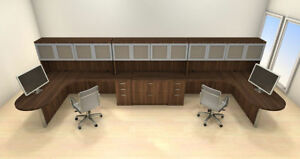 Two Persons Modern Executive Office Workstation Desk Set ch amb s79