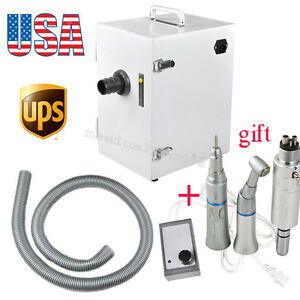 Digital Single row Dental Dust Vacuum Cleaner Collector Low Speed Handpiece Kit