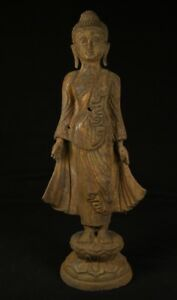 Middle 20th Century Old Bronze Buddha Statue From Burma Antique Buddha Statues