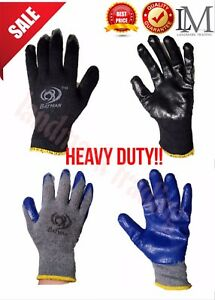 Wholesale 80 240 Pair Pemium Latex Rubber Paim Coated Heave Duty Work Gioves M l