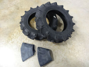 Two New 7 16 Bkt Tr 144 Compact 4wd Tractor R 1 Lug Tires With Tubes