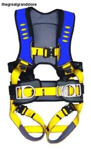 Guardian Fall Protection Construction Harness W Chest Waist Tounge Leg Buckles