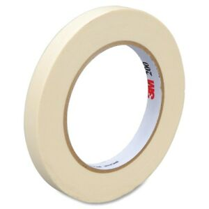 3m 200 Paper Tape 0 47 Width X 60 Yd Length 3 Core Rubber Backing