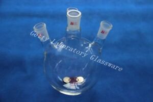 2l 2000ml 4 neck Lab Glass Round Bottom Flask Boil Flask 24 40 Joint Heavy Wall