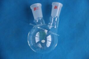 250ml 2 neck Lab Glass Two neck Round Bottom Boil Flask 24 40 Joint heavy Wall