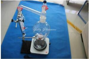 Lab Glass Essential Oil Steam Distiller Distilling Apparatus Distillation Kit