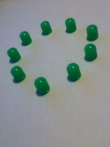 Tire Valve Stem Caps Cover Custom Green In Color Qty 5 1 Extra For Spare