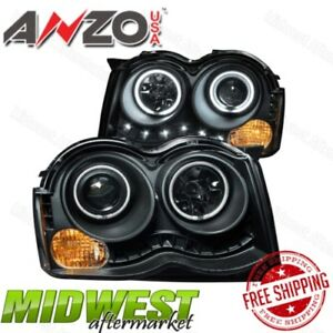 Anzo Projector Halogen Headlights With Halo For 2008 2010 Jeep Grand Cherokee