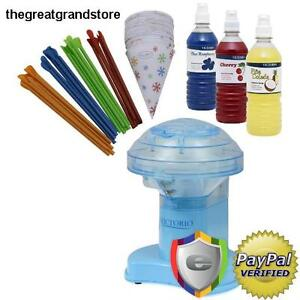 Snow Cone Machine Ice Maker Shaver Flavored Syrups Crusher Smasher Shaved Note