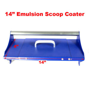 Screen Printing Emulsion Scoop Coater Diy Aluminum Tool With Cap 14 35cm