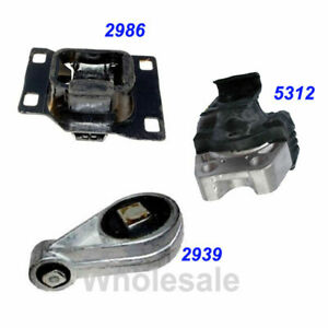 M426 For Ford Focus 2 3l 2003 2004 Enigne Motor Trans Mount Set 2939 2986 5312