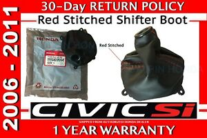 Genuine Oem Honda Civic Si Red Stiched Shift Boot 2006 2011 77298 Snx A01zb