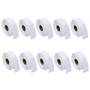 10 Roll Labels 1 X 2 1 8 For Dymo 30336 Labelwriter 400 450 Twin Turbo Duo