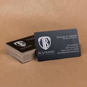 100 Anodized Aluminum Business Card Blanks Laser Engraver Round Corners Usa