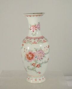 Antique Chinese Famille Rose Export Vase Floral Decoration Estate Found