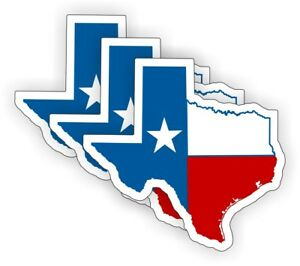 3 Texas Flag Maps Hard Hat Stickers | Decals Flags Motorcycle Toolbox Helmet USA