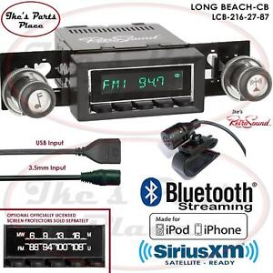 Retrosound Long Beach Cb Radio Bluetooth Ipod Usb 3 5mm Aux In 216 27 Amc