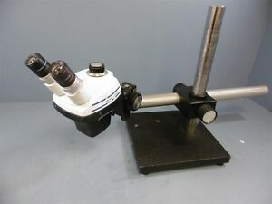 Bausch And Lomb Stereozoom 4 0 7x 3 0x Microscope Plus Boom Stand 10x Eyepiece
