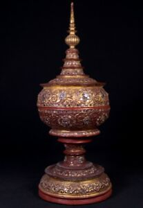 19th Century Antique Burmese Offering Vessel From Burma Antique Buddha Statues