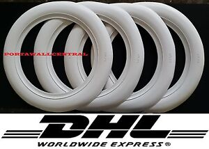 Atlas Brand 15 Wheel 3 Inches Wide 4 New Tires White Wall Set free Shipping