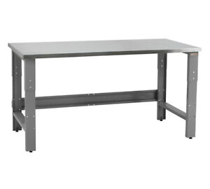 Benchpro R Stainless Steel Top 24 d X 60 w Production Work Table Ind Workbenches